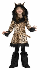 Little Girls Natural Leopard Costume