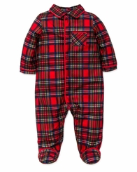 Little Me Baby Boy's Plaid Christmas  Pajama Footie - sold out