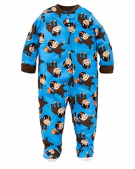 Little Me Baby Boy's Poly Football Monkey Footed Pajamas