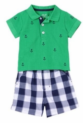 Little Me Baby Boys Anchor Short Set