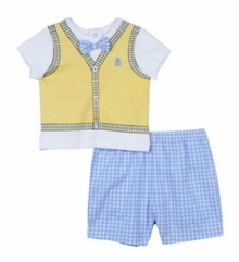 Little Me Baby Boys Bear Short Set