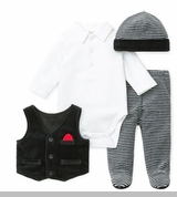 Little Me Baby-Boys Dress Clothes 4 Pc Pant Set