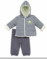 Little Me Baby Boys Elephant Jacket Set