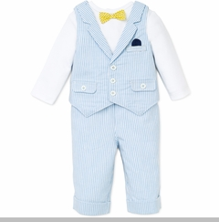 Little Me Baby Boys Gent 3pc Vest Suit Set
