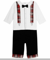 Little Me Baby Boys Holiday Suspender Set