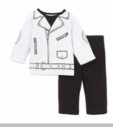 Little Me Baby Boys Motorcycle Pant Set