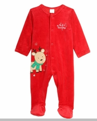 Little Me Baby-Boys My First Christmas Reindeer Footie