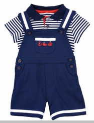 Little Me Baby Boys Nautical Mariner Polo Shortall - sold out
