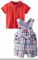 Little Me Baby-Boys Newborn Baseball Shortall Set