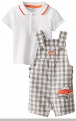 Little Me Baby-Boys Newborn Car Shortall Set