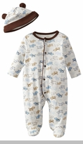 Little Me Baby-Boys Newborn Cute Puppies Footie