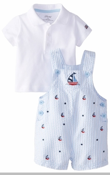 Little Me Baby-Boys Newborn Sailboat Shortall Set - SOLD OUT