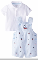 Little Me Baby-Boys Newborn Sailboat Shortall Set