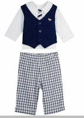Little Me Baby Boys Preppy Pant Set