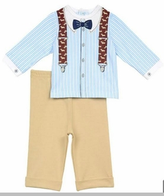 Little Me Baby Boys Professor Pant Set