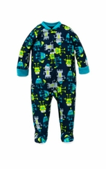 Little Me Baby Boys Robot Footed Pajamas