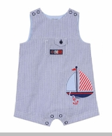 Little Me Baby Boys Sailboat Sunsuit