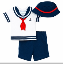 Little Me Baby Boys Sailor Short set - sold out