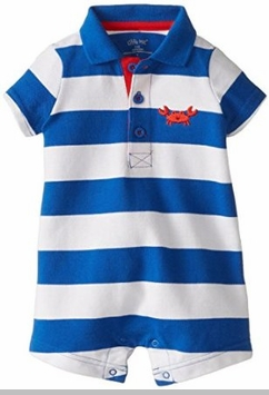 Little Me Baby-Boys Striped Crab Romper
