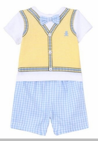 Little Me Baby Boys Tiny Bear Short Set