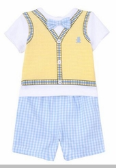 Little Me Baby Boys Tiny Bear Short Set  -sold out