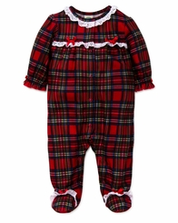 Little Me Baby Girl's Girls Plaid Christmas Footie