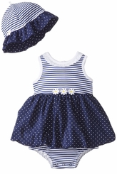 Little Me Baby Girls Daisy Dot Popover with Sunhat - sold out