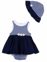 Little Me Baby Girls Daisy Dot Popover with Sunhat