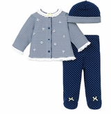 Little Me Baby Girls Daisy Stripe Take Me Home Outfit