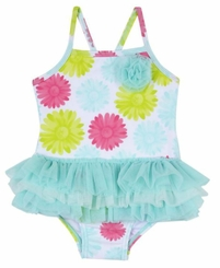 Little Me Baby Girls Daisy Tutu Swimsuit