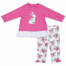 Little Me Baby or Toddler Girls Easter Bunny Tunic Legging Set