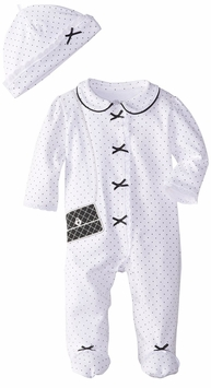 Little Me Baby Girls Handbag Bow Footie and Hat