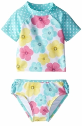 Little Me Baby Girls Hibiscus Rash Guard Tankini Swimsuit - SOLD OUT