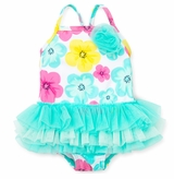 Little Me Baby Girls Hibiscus Tutu One Piece Swimsuit
