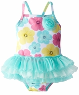 Little Me Baby Girls Hibiscus Tutu One Piece Swimsuit - SOLD OUT