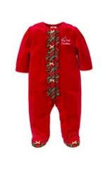 Little Me Baby Girls Holiday Plaid Footie - sold out