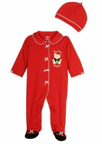 Little Me Baby Girls My 1st Christmas Bear Footie Picture