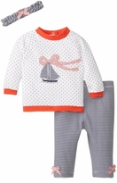 Little Me Baby-Girls Newborn Sail Quilted Legging Set
