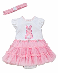 Little Me Baby Girls Pink Easter Bunny Tutu Dress with Headband