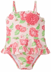 Little Me Baby Girls Rose One Piece Swimsuit - sold out