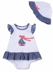 Little Me Baby Girls Sailboat Dress with Sunhat - sold out