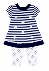 Little Me Baby Or Toddler Girls Daisy Dress Legging Set