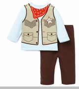 Little Me Boys Cowboy Pant Set