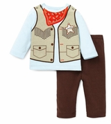 Little Me Boys Cowboy Pant Set - SOLD OUT