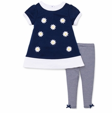 Little Me Baby Girls Daisy Dress and Legging Set