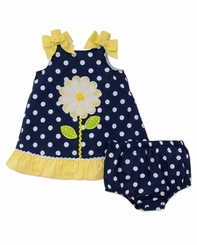 Little Me Girls Daisy Dot Sundress