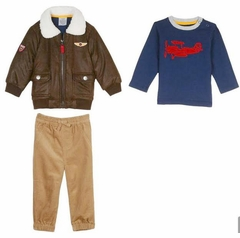 Little Me Little Boys Aviator Jacket and Pant Set