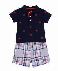 Little Me Little Boys Crab Short Set