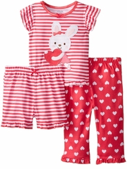 Little Me Little Girls Bunny Heart Pajama Set - sold out