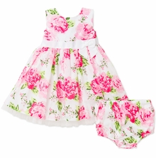 Little Me Little Girls Rose Woven Dress